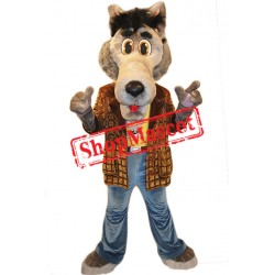 Friendly Wolf Mascot Costume Free Shipping