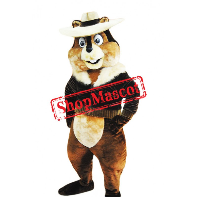 Happy Lightweight Chipmunk Mascot Costume