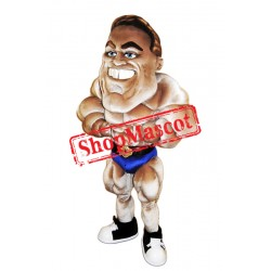 Bodybuilder Mascot Costume