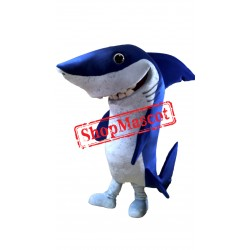 Professional Quality Blue Shark Mascot Costume