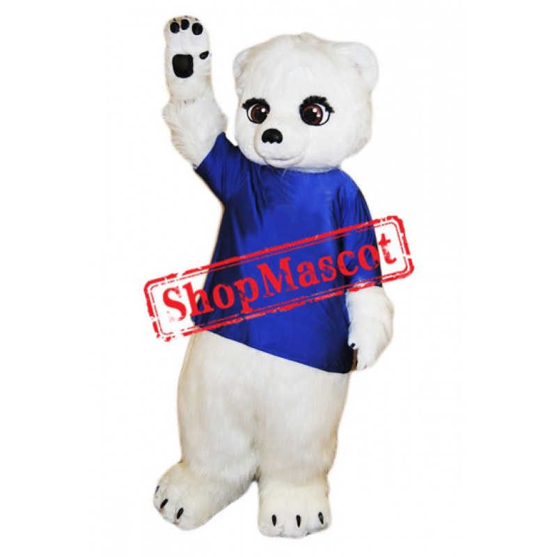 Little Cute Polar bear Mascot Costume