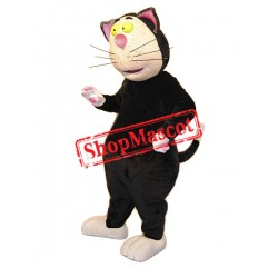 Funny Black Cat Mascot Costume