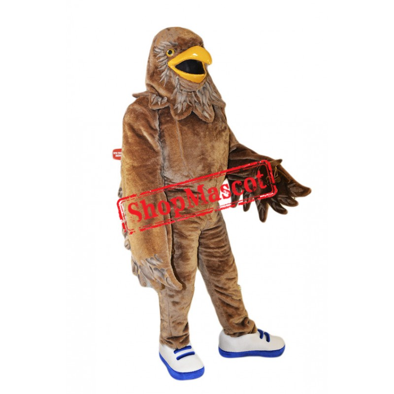 Fierce Brown Eagle Mascot Costume