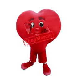 Super Cute Red Heart Mascot Costume