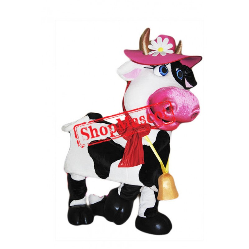 Beautiful Cow Mascot Costume Free Shipping