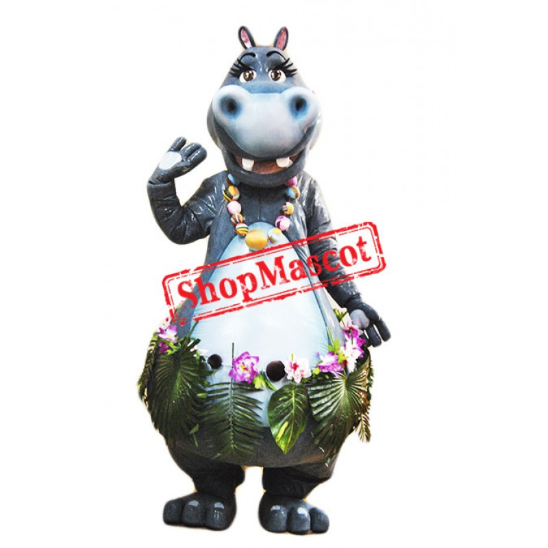 Beautiful Hippopotamus Mascot Costume Free Shipping