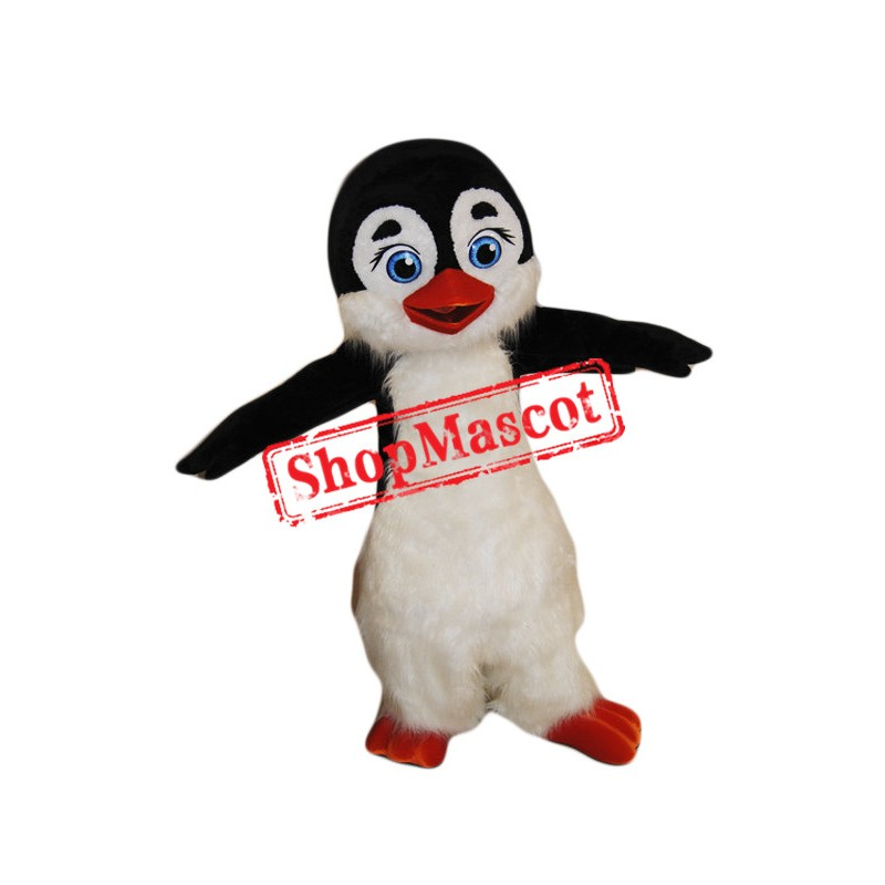 Cute Furry Penguin Mascot Costume