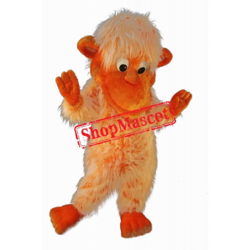 Orange Monkey Mascot Costume