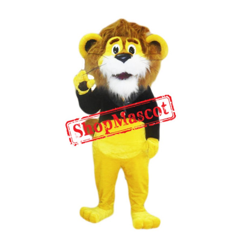 Cute Yellow Lion Mascot Costume