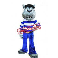 Best Quality Grey Wolf Mascot Costume