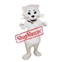 Top Quality White Cat Mascot Costume