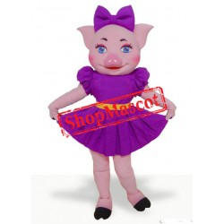 Super Beautiful Pig Mascot Costume