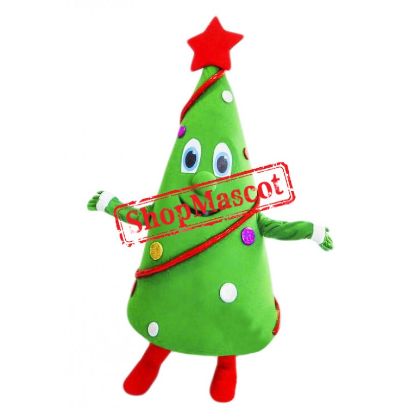 Happy Lightweight Christmas Tree Mascot Costume