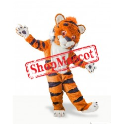 Cute Furry Tiger Mascot Costume