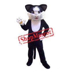 Best Quality Black White Cat Mascot Costume