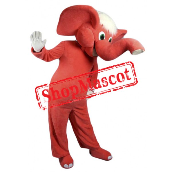Top Quality Red Elephant Mascot Costume