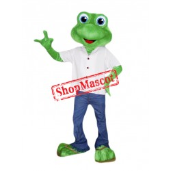 Friendly Frog Mascot Costume Free Shipping
