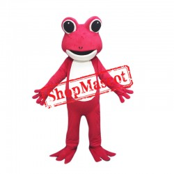 Red Lightweight Frog Mascot Costume