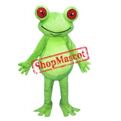 Smiling Lightweight Frog Mascot Costume