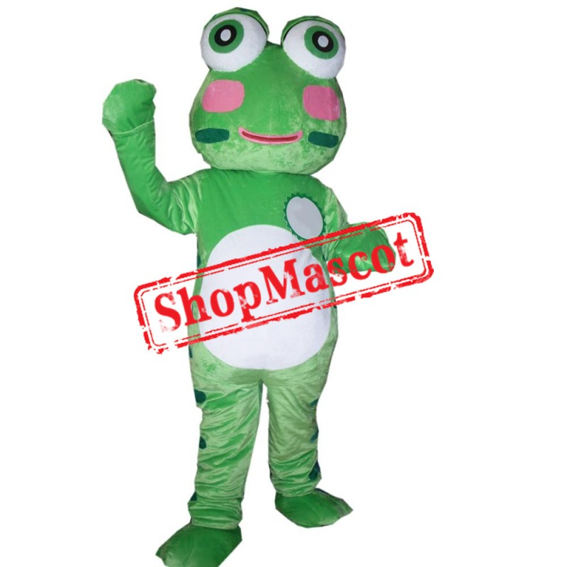 Cute Green Lightweight Frog Mascot Costume