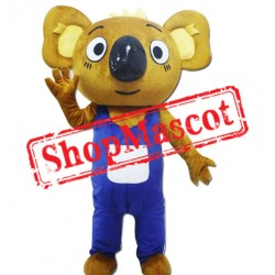Cute Brown Koala Mascot Costume
