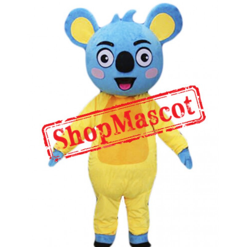 Happy Blue Koala Mascot Costume
