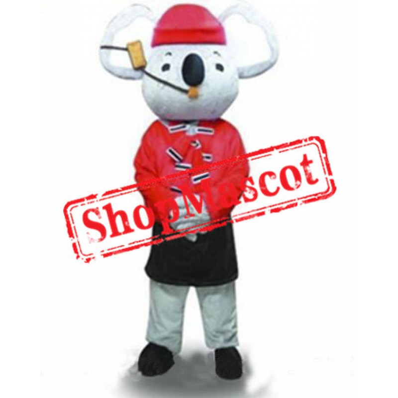 Red Coat Koala Mascot Costume