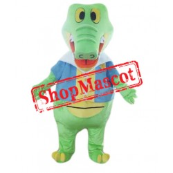 Green Alligator Crocodile Mascot Costume