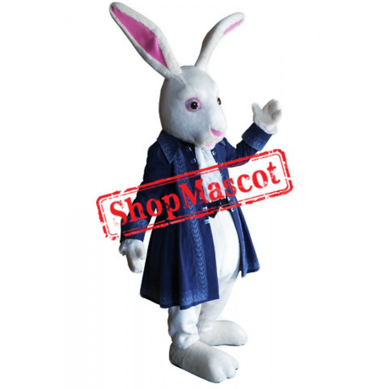 Top Quality White Rabbit Mascot Costume