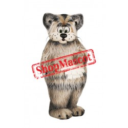 Grey Furry Cat Mascot Costume
