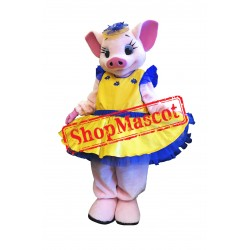 Fashion Pig Mascot Costume