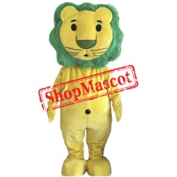 Green Hair Lion Mascot Costume