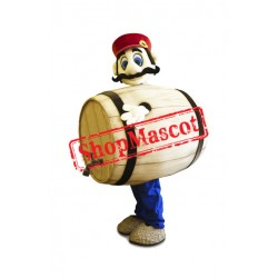 Barrel Man Mascot Costume