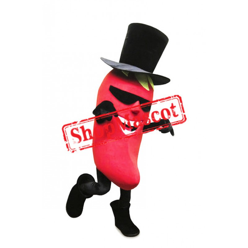 Happy Lightweight Chili Pepper Mascot Costume