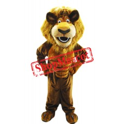 Happy Power Lion Mascot Costume