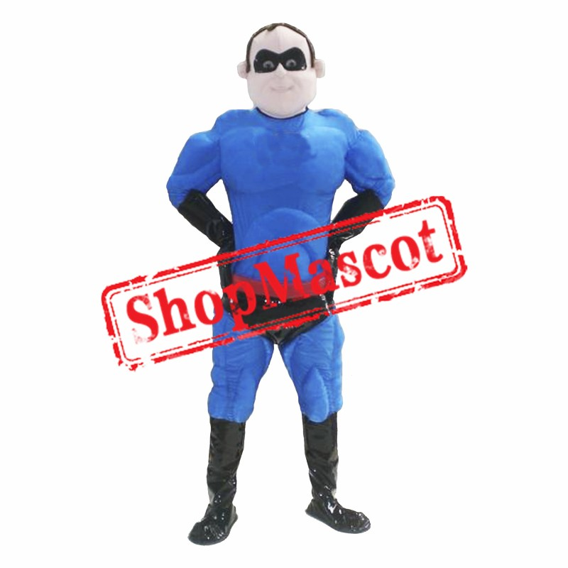 Blue Superman Mascot Costume