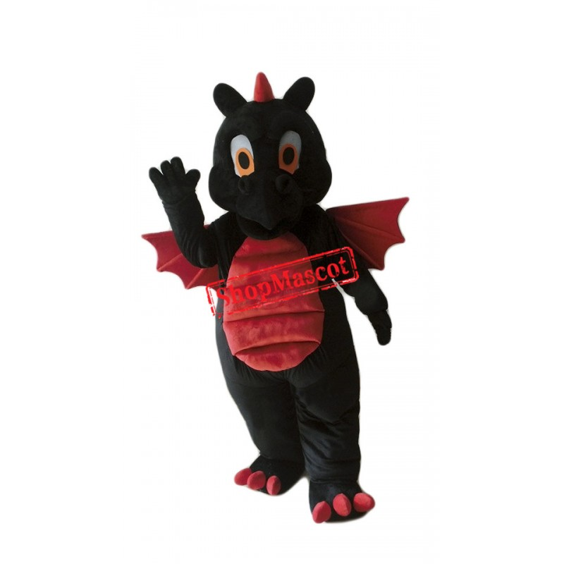 Top Quality Lightweight Black Dragon Mascot Costume