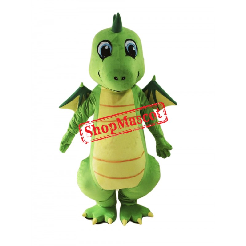 Top Quality Lightweight Green Dragon Mascot Costume