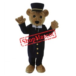 Adult Police Teddy Bear Mascot Costume