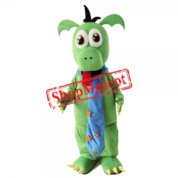 Cute Lightweight Green Dinosaur Mascot Costume Free Shipping