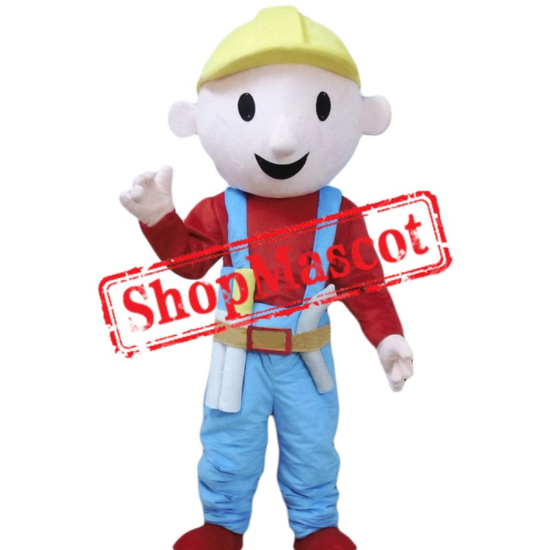 Cheap Builder Mascot Costume