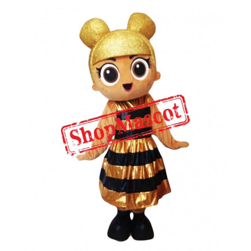 Fancy Golden Doll Mascot Costume