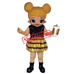 High Quality Fancy Golden Doll Mascot Costume