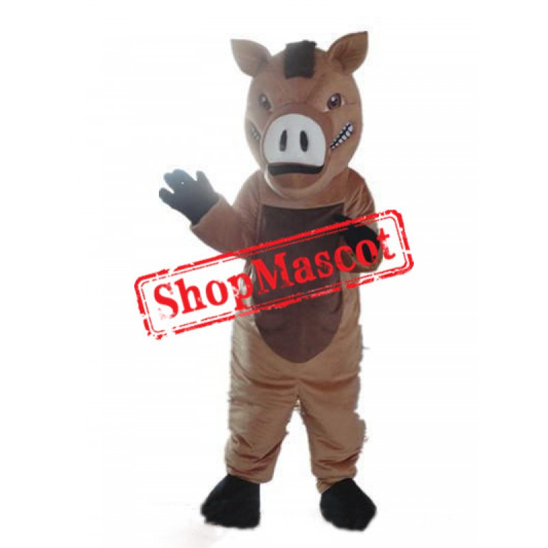 High quality Brown Boar Mascot Costume