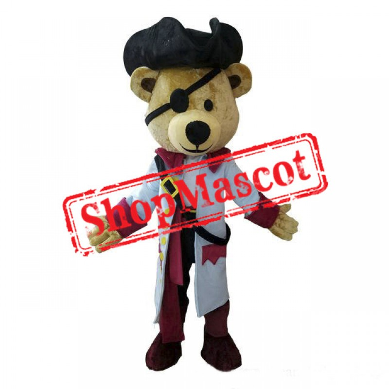 High Quality Pirate Bear Mascot Costume