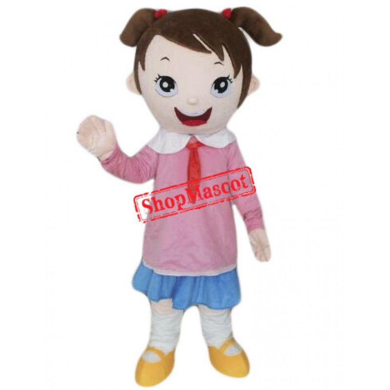 School Girl Mascot Costume