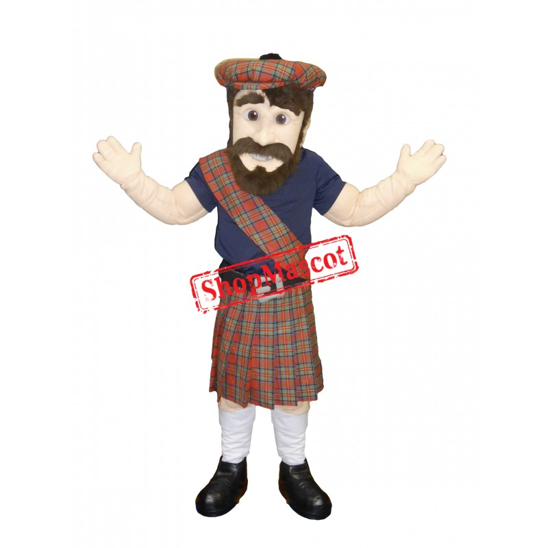 Happy Lightweight Highlander Mascot Costume