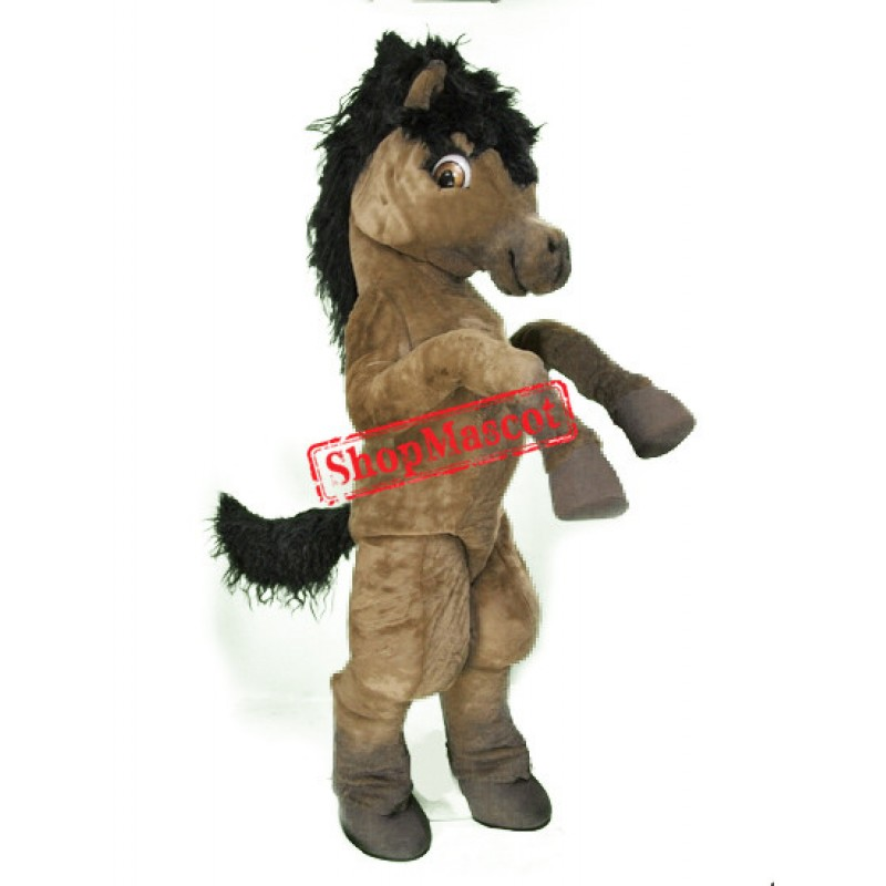 Top Quality Brown Horse Mascot Costume