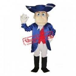 Friendly Lightweight Patriot Mascot Costume
