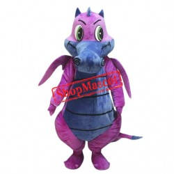 Pink & Grey Dragon Mascot Costume